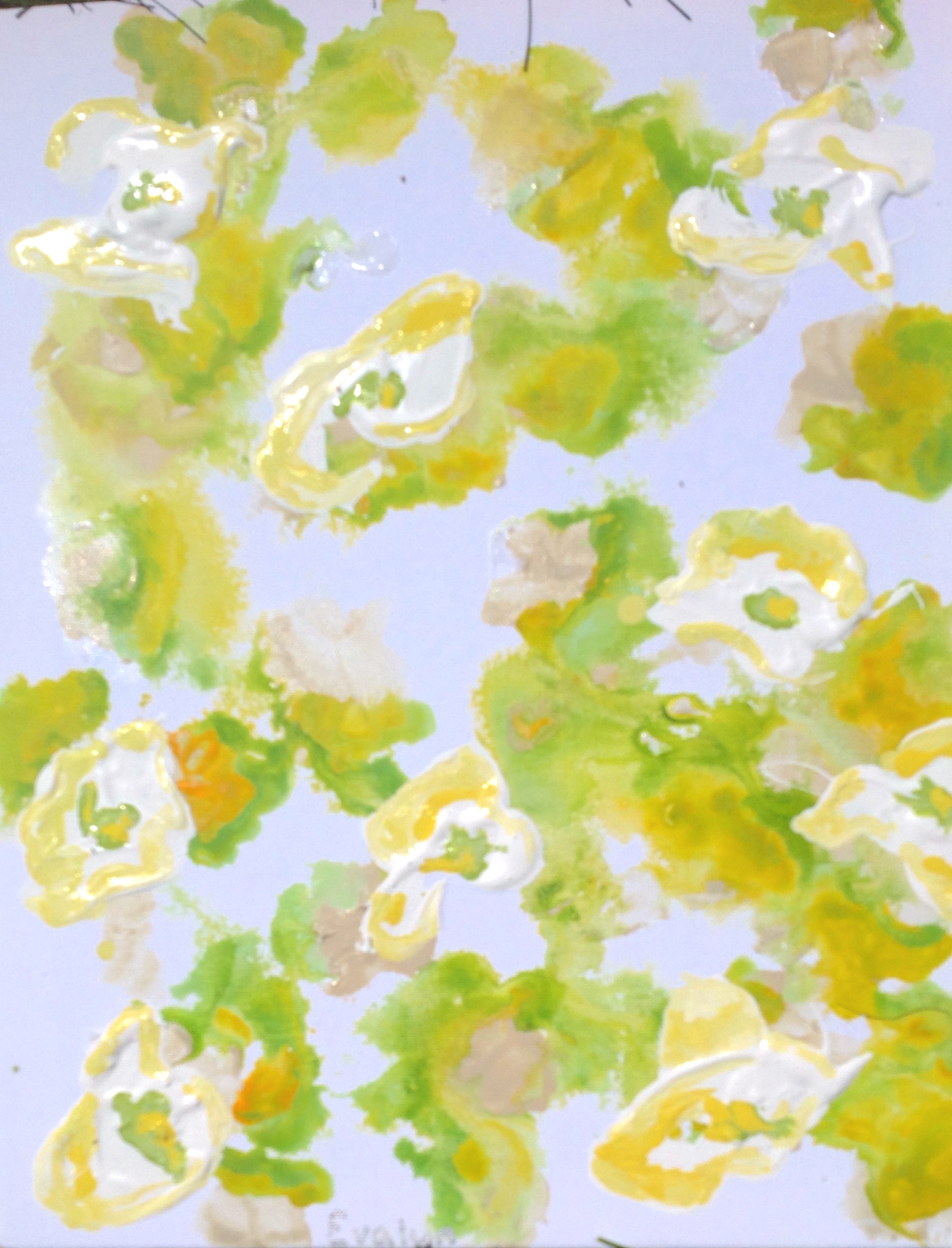 yellow flowers PS art camp June 2015